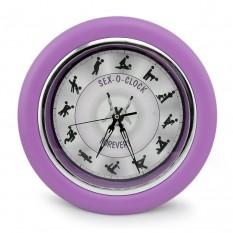 Настенные часы Камасутра большие (сиреневый)
