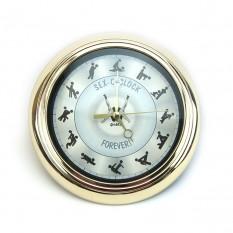 Настенные часы Камасутра маленькие (золото с черным)
