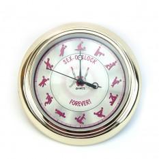 Настенные часы Камасутра маленькие (золото с розовым)
