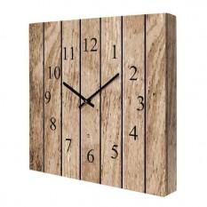 Часы на холсте Дерево 14I008