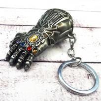 Брелок СГМ 5019 объемный Мстители Перчатка бесконечности (серебро)