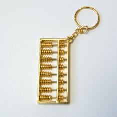 Брелок винтажный Счеты золото