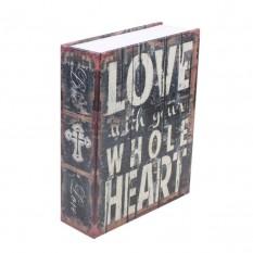 Книга-сейф (18см) Love
