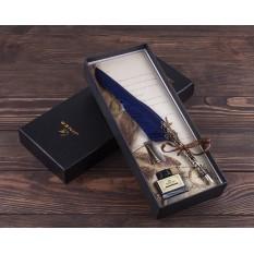Винтажная Ручка перо синяя Harry Potter