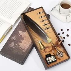 Винтажный подарочный набор для каллиграфии Ручка перьевая (серый)