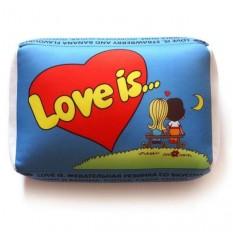 Подушка love (синяя)