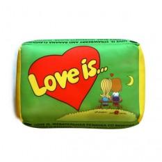 Подушка love (зеленая)