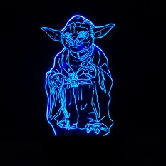 3D Светильник мастер Йода 12-1