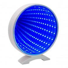 Светильник бесконечное зеркало USB Круг (голубой)