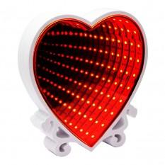 Бесконечное зеркало Infinity Mirror Сердце (красный)