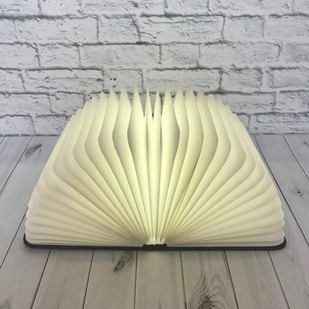 Светильник Книга 3Д (темное дерево)