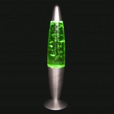Лава лампа с глиттером (34см) зеленая