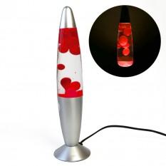 Лава лампа с парафином (34см) красная
