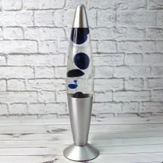 Лава лампа с парафином (34см) синяя