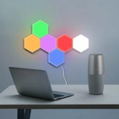 Модульный LED светильник сенсорный СОТЫ (набор 6шт) с адаптером (разноцветный)