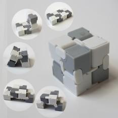 Кубик антистресс Infinity Cube (белый с серым 1274)