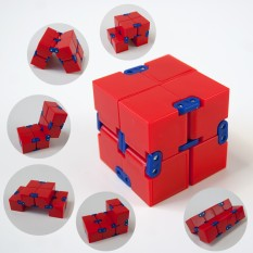 Кубик антистресс Infinity Cube (красный с синим1276)