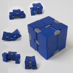 Кубик антистресс Infinity Cube (синий с серым)