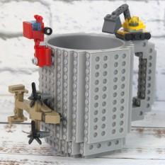 Кружка Лего конструктор (серая)