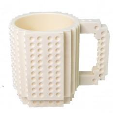 Кружка Лего конструктор (белая)