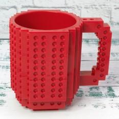 Кружка Лего конструктор (красная)