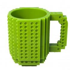 Кружка Лего конструктор (зеленая)