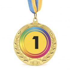 Медаль наградная 43514 Д7см 1 место Радуга