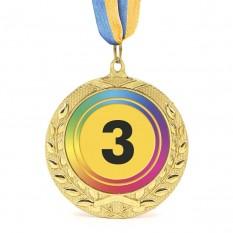 Медаль наградная 43516 Д7см 3 место Радуга