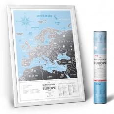 Скретч карта Европа EUROPA