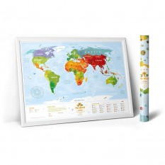 Скретч карта мира KIDS SIGHTH