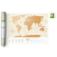 Скретч карта світу GOLD WORLD