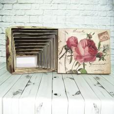 Коробка подарочная ВZ-1111 Роза (набор 10шт)
