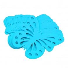 Декор бумажный Бабочки (уп. 24шт) лазурный