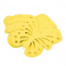 Декор бумажный Бабочки (уп. 24шт) желтый