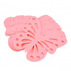 Декор бумажный Бабочки (уп. 24шт) розовый