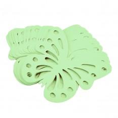 Декор бумажный Бабочки (уп. 24шт) мятный