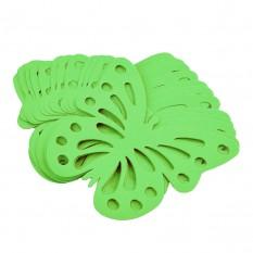 Декор бумажный Бабочки (уп. 24шт) салатовый