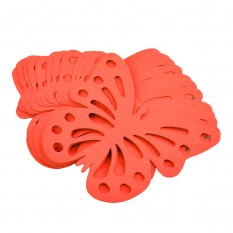 Декор бумажный Бабочки (уп. 24шт) красный