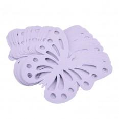 Декор бумажный Бабочки (уп. 24шт) фиалковый
