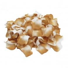 Лепестки роз (уп. 120шт) бежево-белые