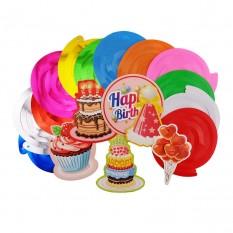 Декор спиральки День рожденья (уп. 12шт)