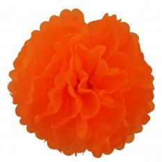 Декор бумажные Помпоны 20см (оранжевый 0011)