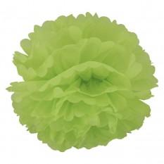 Декор бумажные Помпоны 20см (зеленый)