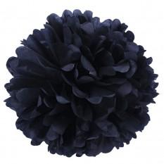 Декор бумажные Помпоны 25см (черный)