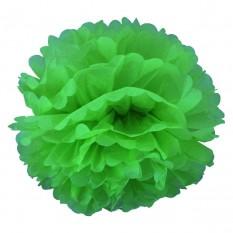 Декор бумажные Помпоны 20см (зеленый 0015)