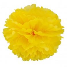 Декор бумажные Помпоны 20см (желтый)