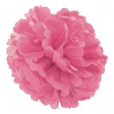Декор бумажные Помпоны 20см (розовый)