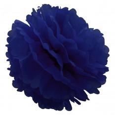 Декор бумажные Помпоны 20см (синий 0002)