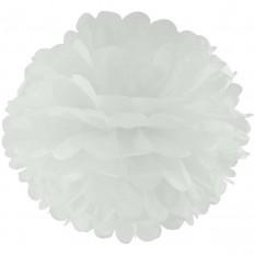 Декор бумажные Помпоны 25см (белый 0018)