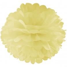 Декор бумажные Помпоны 20см (шампань 0017)
